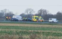 Ongeval op de A7 tussen Joure en Heerenveen