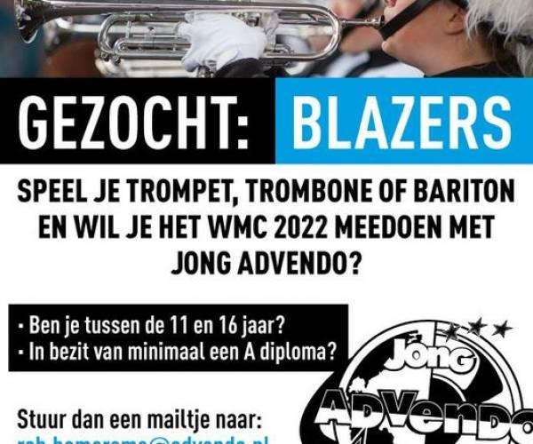 Wie komt Jong Advendo versterken richting het Wereld Muziek Concours?