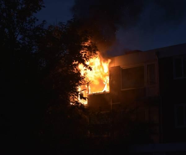Woningbrand op derde etage flatgebouw Rijperahemstraat Sneek