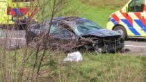 Auto slaat over de kop bij Heerenveen-Zuid