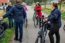 Raadsleden DFM fietsen Rûndsje Tsjûkemar