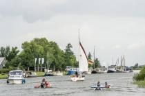 Test Elfstedentocht met zonne-energie boten