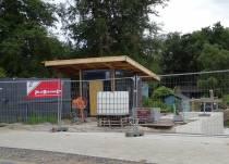 Bouw gemaal Feansicht nabij Heerenveen vordert