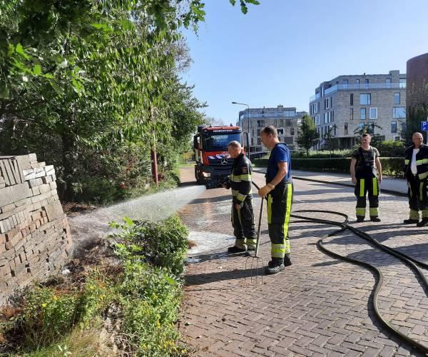 Opnieuw brandje in de Le Roy tuin Heerenveen