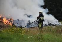 Brandweer heeft flinke klus aan buitenbrand op de Verlengde Sissy van Marxveldtlaan