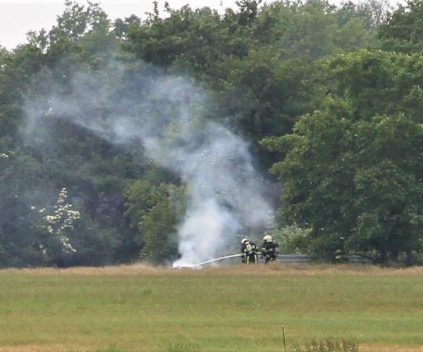Brandweer rukt uit voor berm/ruigte brandje in Sint Johannesga