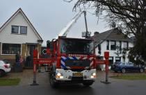 Schoorsteenbrand aan de Koningin Wilhelminaweg in Oranjewoud
