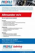 Ben jij de allrounder die op 't juiste moment schakelt? Profile Rodenburg in Sneek is naar je op zoek!