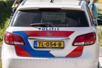 Bedrijfsauto zwaar beschadigd op Tsjûkemarwei bij Sint Nicolaasga