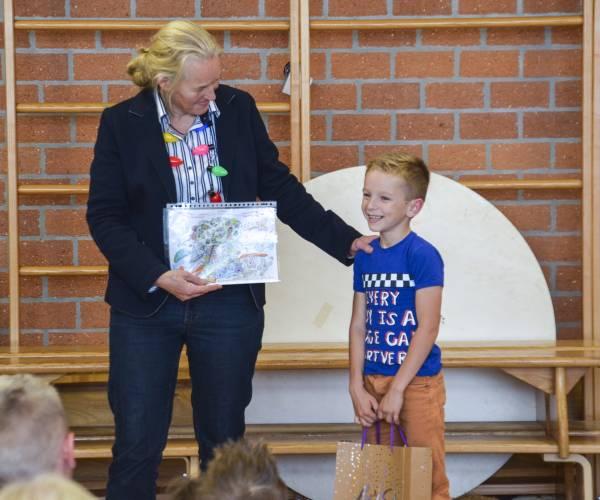 Borick de Hoop van obs De Brêge winnaar Ambion kleurwedstrijd